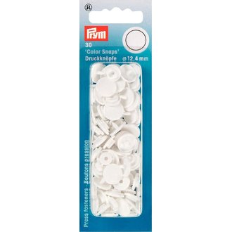 Prym 393103 Color Snaps Weiss. Ø 12,4mm
