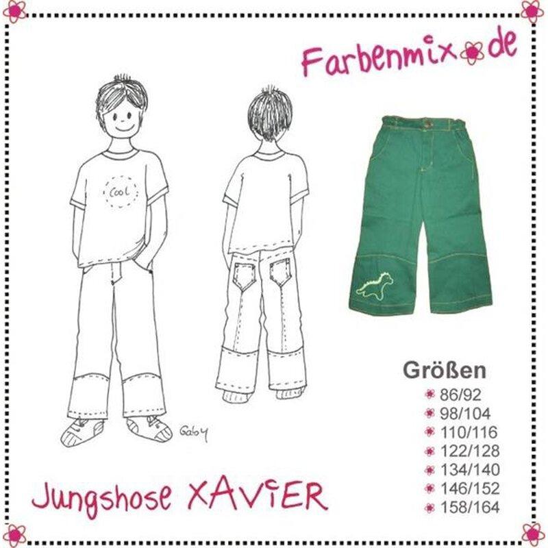 246 Papierschnittmuster Farbenmix Kinder Xavier Jungenhose, 6,70 &eur