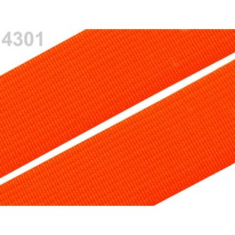 Gummiband 20mm  Farbe Neon Orange