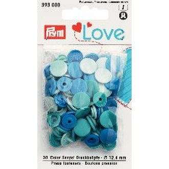 Prym 393000 Love Color Snaps Blautöne. Ø 12,4mm