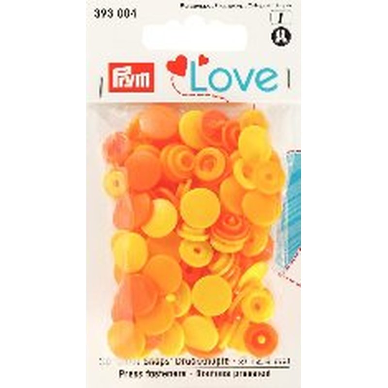 Prym Love 393004 Color Snaps Gelbtöne. Ø 12,4mm