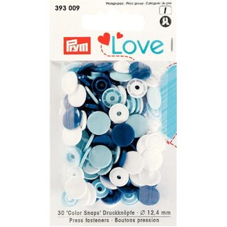 Prym Love 393009 Color Snaps Blauweisstöne. Ø 12,4mm