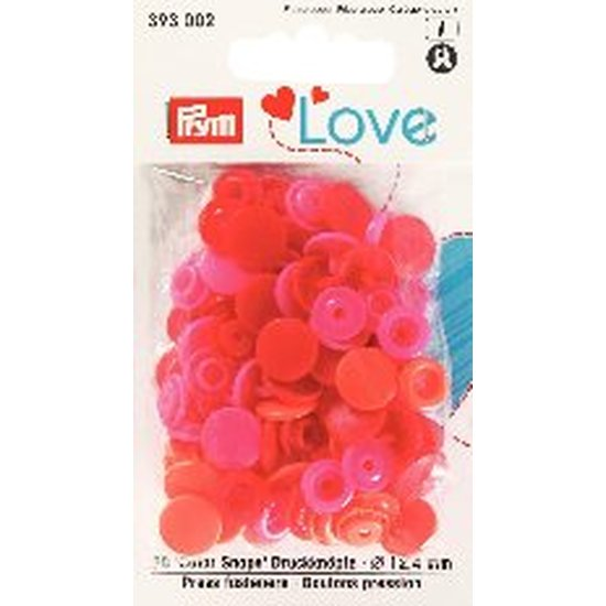 Prym Love 393002  Color Snaps Rot PinkTöne. Ø 12,4mm