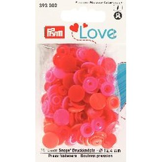 Prym 393002 Love Color Snaps Rot PinkTöne. Ø 12,4mm