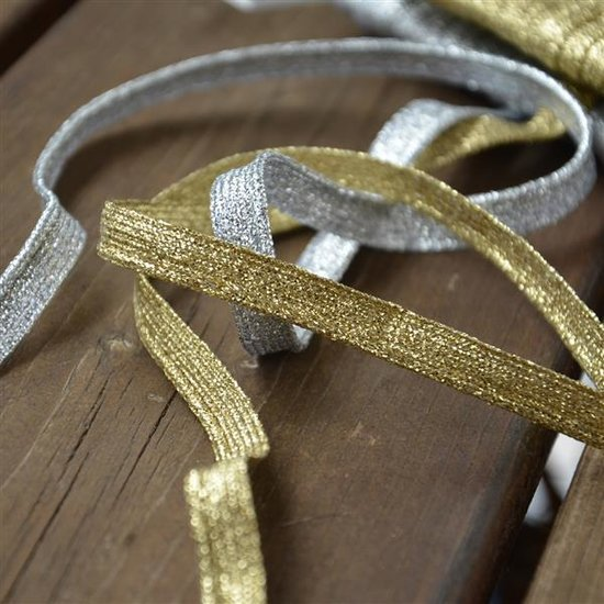 Paspelband Glitzer in Silber oder Gold