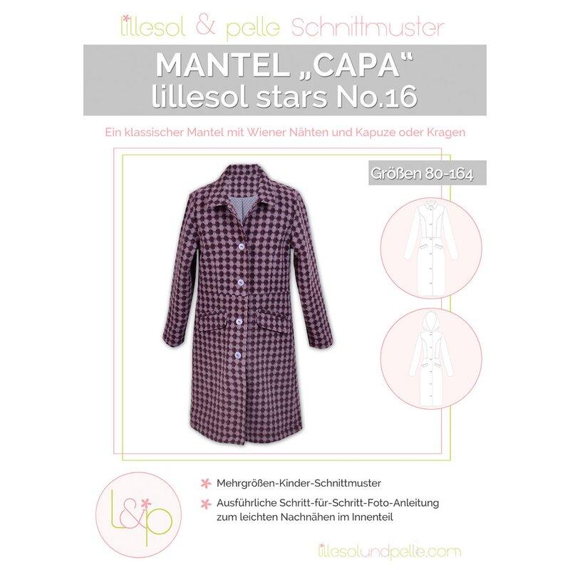 Schnittmuster Lillesol Mädchen Mantel Capa No. 16 - Größe 80-164, 10 ...