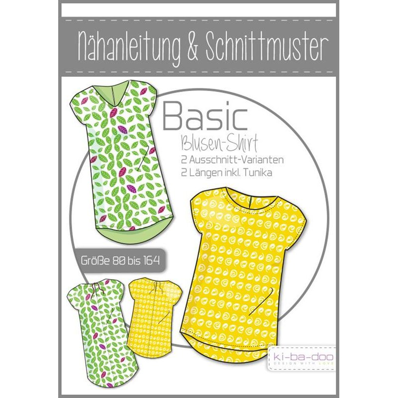 Schnittmuster Kibadoo Girls Basic Blusen-Shirt, 12,90 €