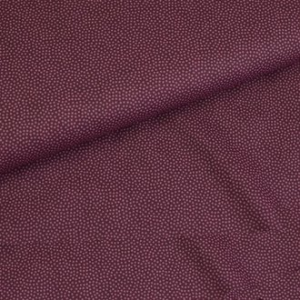 Baumwolle Dotty Bordeaux