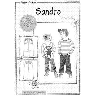 212 Schnittmuster Farbenmix Kinder Sandro Hose