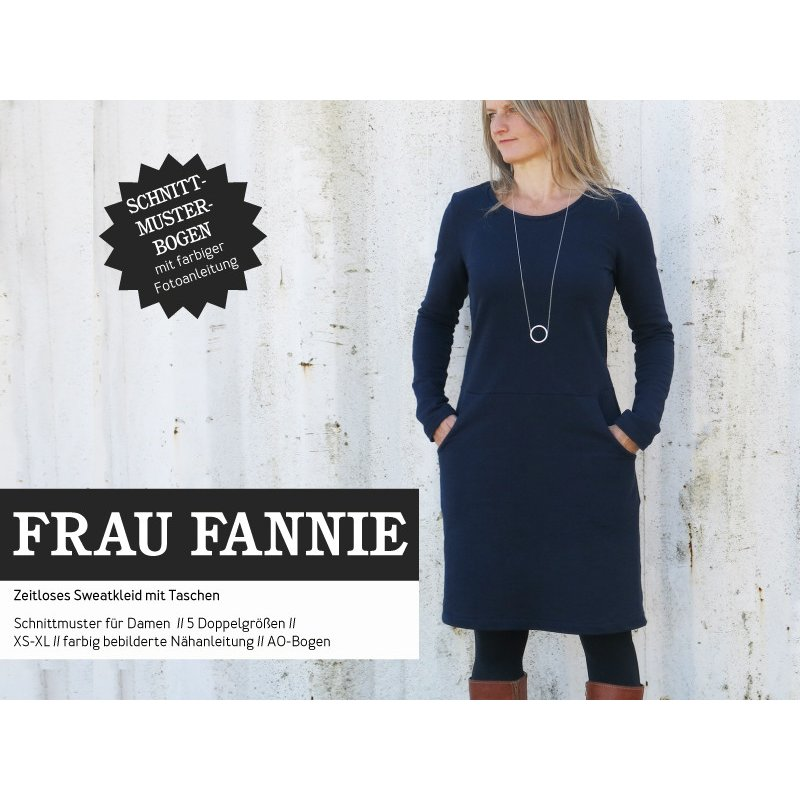 46 Papierschnittmuster Schnittreif Damen Frau Fannie Kleid, 7,90 &eur