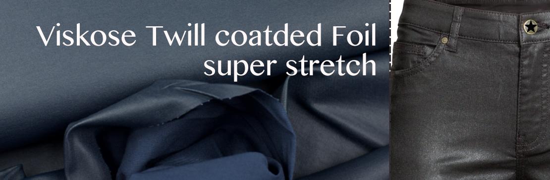 Twill coated foil